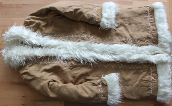 Mantel in Velouroptic Größe 140-152