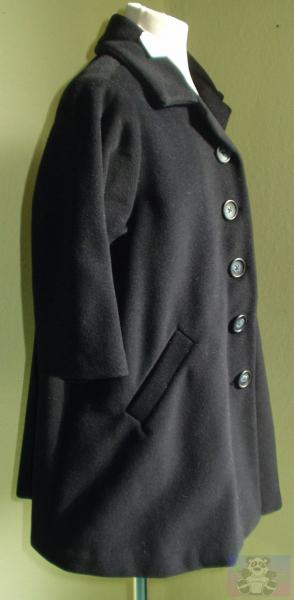 Wintermantel, Wolle/Kaschmir dunkelblau  Größe 104